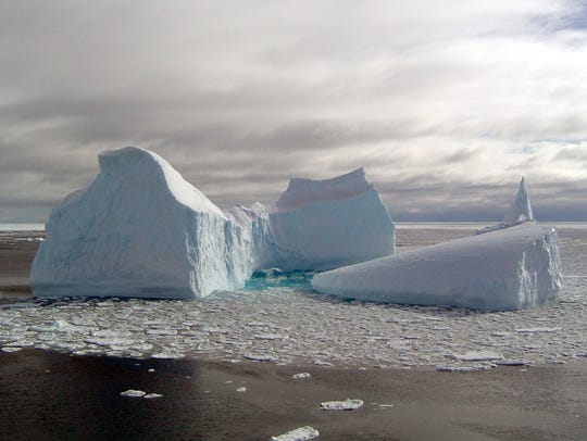 Icebergs can develop into a variety of shapes as they