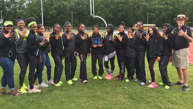 Five straight Group 3 titles was something to celebrate for Winslow's girls squad.