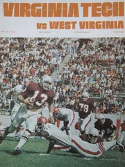 A Virginia Tech cover sports a picture of Bruce Arians playing quarterback.