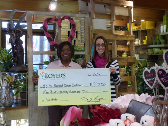 636215652848487749-Royer-27s-Flowers-donates-990-to-PA-Breast-Cancer-Coalition-Jan-2017-.JPG