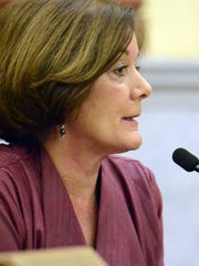 President Commissioner Susan Byrnes speaks during a