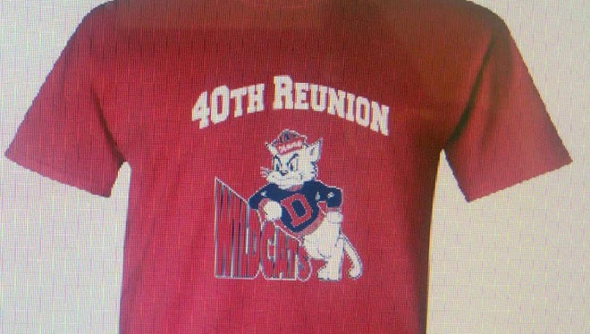 Commemorative Wildcat T-shirts will be sold during the DHS Class of 1977 40-year reunion.