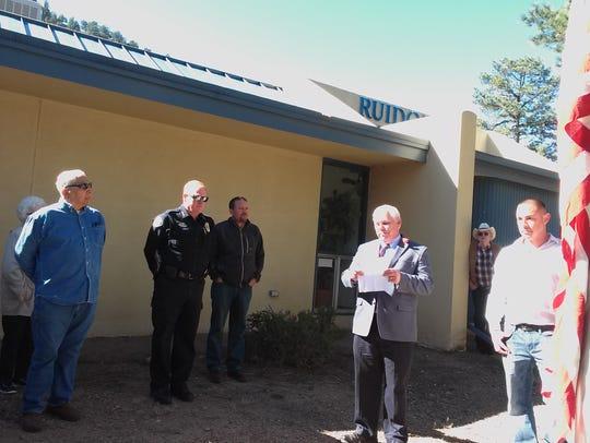Pictured, from left;  Fernando Guzman, an RSVP volunteer,