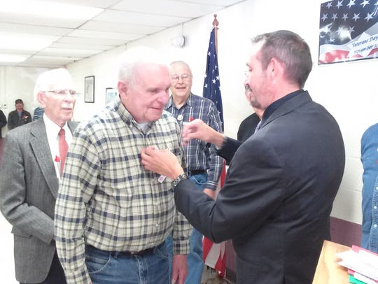 Veterans were honored during the pinning ceremony.