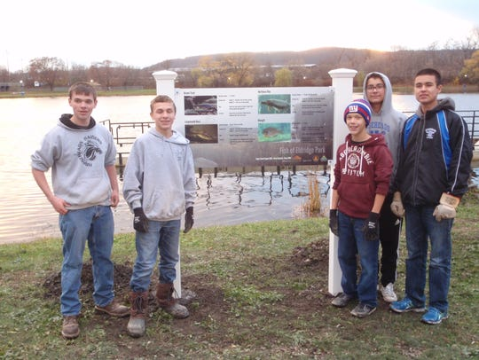 Brian Kazmark and fellow scouts from Troop 3097 with