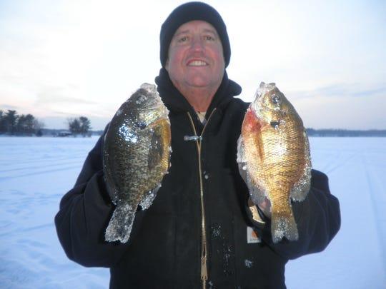 Steve Kronshagen with some nice bluegills.