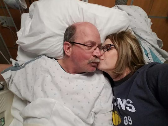 Daniel Howes (left) with his wife Donna as he recuperates