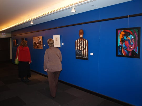 A view of part of the 23rd African American Art Exhibition at Actors Theatre of Louisville.