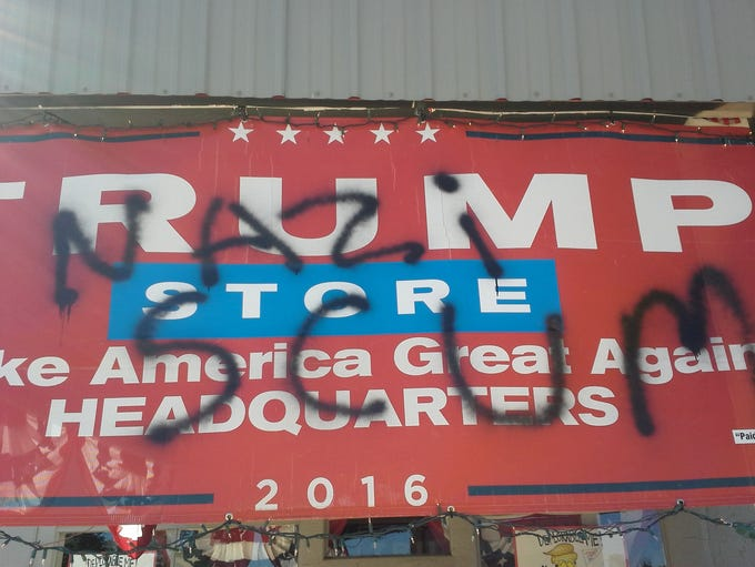 The Trumped Store in Show Low was vandalized late Aug.