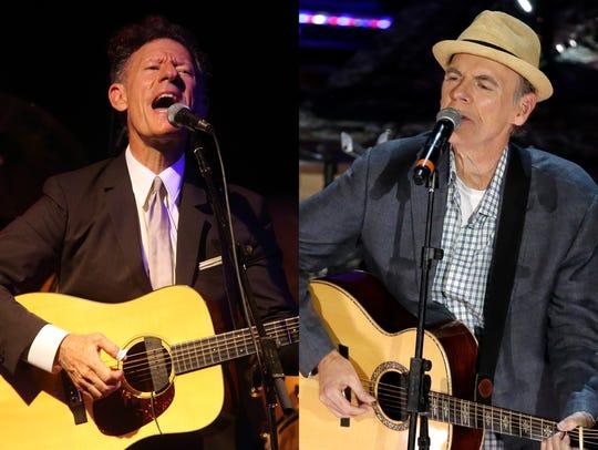 Lyle Lovett (left) and John Hiatt will perform at Clowes