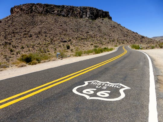 Mesa Trail starts from the shoulder of Historic Route 66 directly across from Cool Springs, 20 miles west of Kingman.