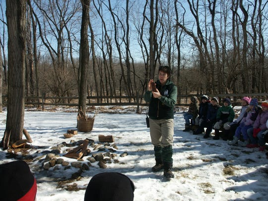 Maple sugaring demonstrations at the Environmental