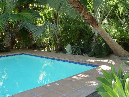 """Don't miss the """"palm oasis"""" garden for floating on"""