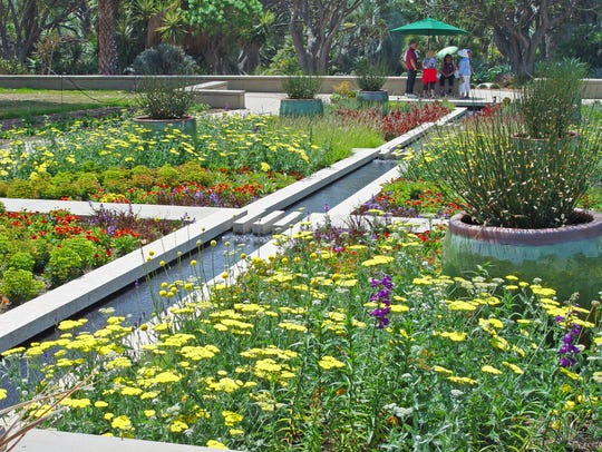 The new broad borders at the Huntington Botanical Garden