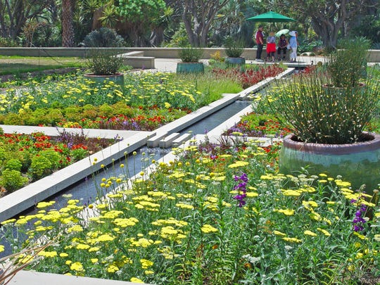 The new broad borders at the Huntington Botanical Garden are an education on colorful arid-zone perennials.