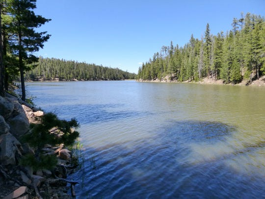 Popular with fisherman, 60-acre Bear Canyon Lake supports