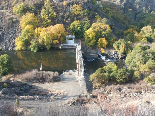 Copco Dam No. 2 is one of four dams on the Klamath