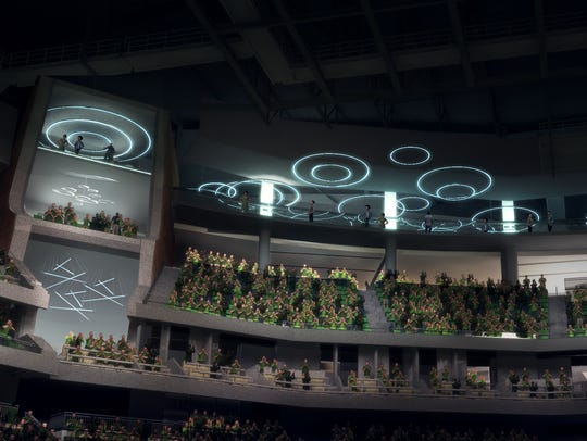Openings in the seating bowl at the forthcoming Milwaukee