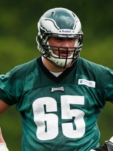 Philadelphia Eagles offensive tackle Lane Johnson (65)
