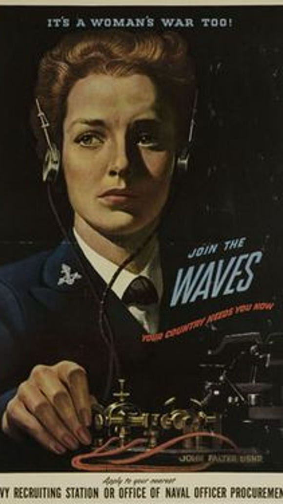 A World War II recruiting poster for the Navy's WAVES.