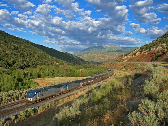 Looking out the windows of the California Zephyr, you'll