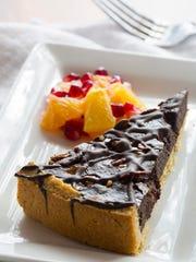 Chocolate toasted pepita tart