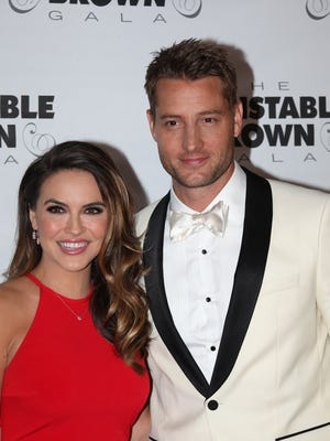 """This is Us"" star Justin Hartley with girlfriend Chrishell Stause at The Barnstable-Brown Gala on Friday night."