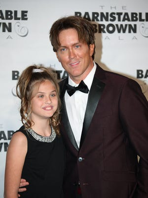 Larry Birkhead with daughter Dannielynn at The Barnstable-Brown Gala on Friday night.