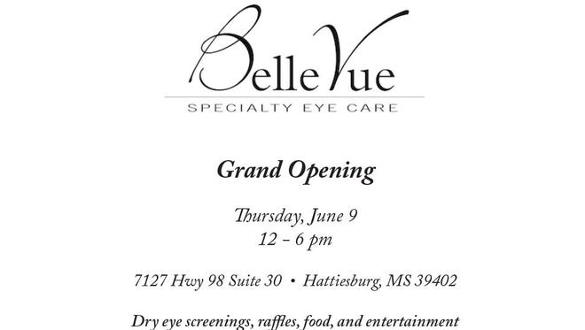 Belle Vue Specialty Eye Center will hold a grand opening June 9.