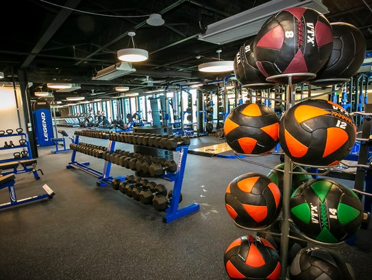 The exercise area inside the new Murfreesboro Police