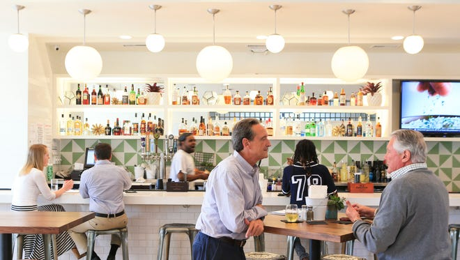 Finn's Southern Kitchen on McHenry Street in Germantown is a bright space with lots of light on hardwood floors and a modern decor but with casual southern comfort food.