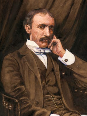 Portrait of Frank Hamilton Cushing by Malenda Trick. Cushing led the world-famous 1896 archaeological expedition to Marco Island that excavated the Key Marco Cat and other priceless Key Marco artifacts.