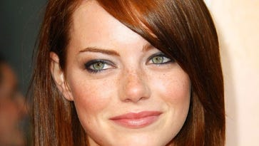 Emma Stone, a natural blonde, looks just as fabulous if not more so as a stunning redhead.