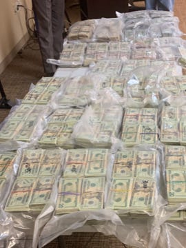 Deputies discovered over $1 million in cash during a traffic stop near the Falfurrias checkpoint.