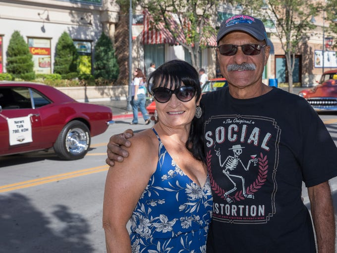 Deborah and Michael Arreola from San Jose during the