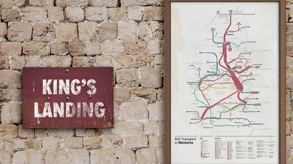 Game of Thrones Transit Maps