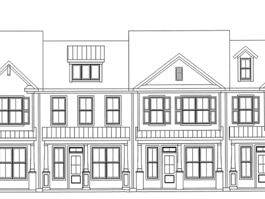 This rendering, submitted to Greenville County, not Mauldin, shows the proposed look of town houses in a subdivision off Baldwin Road between Mauldin and Simpsonville that. It's not clear if the development would follow the same Greenville County plans if it's annexed into Mauldin.