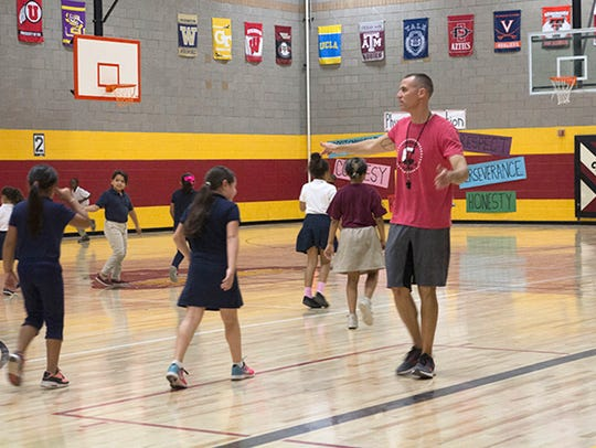 P.E. teacher Josh Meibos, the 2018 Arizona Teacher