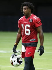 Cardinals rookie wide receiver Chad Williams at training