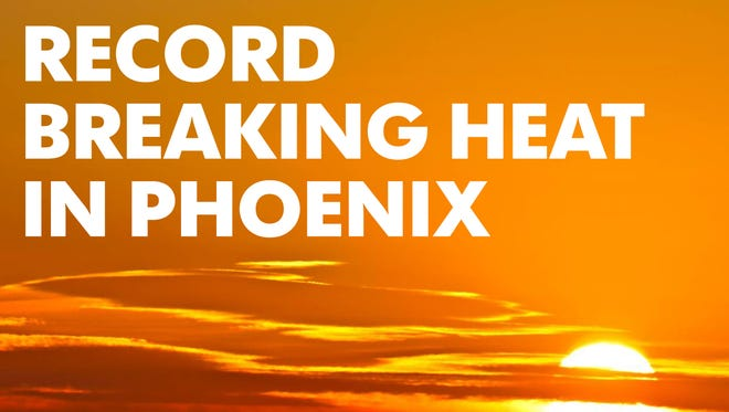 Forecasts call for high temperatures in the Phoenix area in the next few days, including some that could top the all-time record.