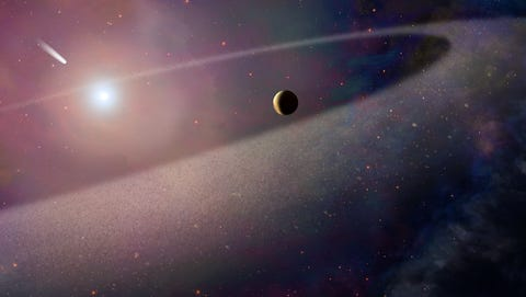 Astronomers in Germany found a massive comet-like object in February 2017. It's 100,000 times larger than Halley's comet.