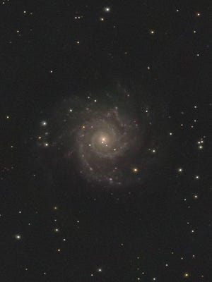 This photo of the M-74 spiral galaxy was taken at Kopernik Observatory.