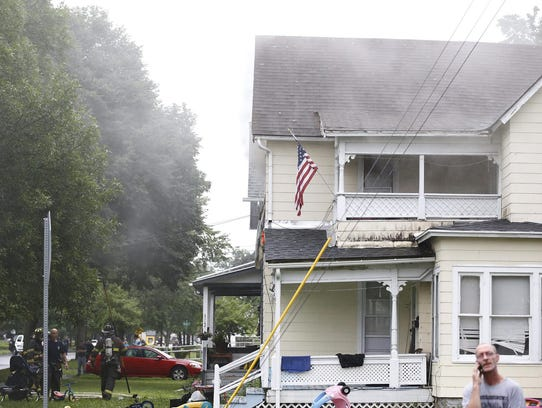 A fire broke out in a Lake Street home bedroom in Elmira