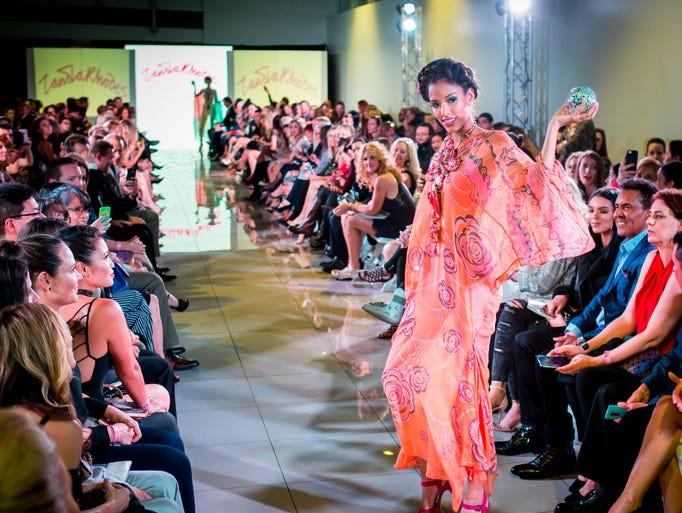Zandra Rhodes' runway during the Scottsdale Fashion