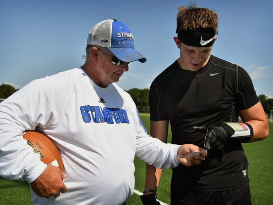 Stamford football coach Ronnie Casey talks about pass