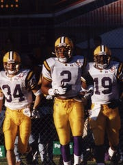 Eddie Kennison (2) is shown during his LSU playing days. He will be inducted to the Louisiana Sports Hall of Fame as a member of the 2017 class.
