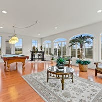 Brick-front Toll Brothers Colonial in Hillsborough
