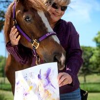 Meet Clifford, a Michigan horse that paints