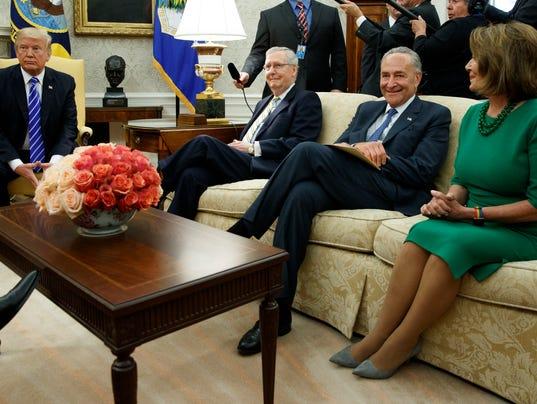 Donald Trump, Chuck Schumer, Mitch McConnell, Nancy Pelosi