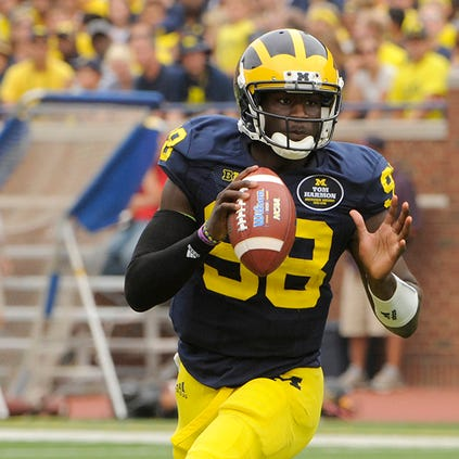 Devin Gardner has completed 61.2 percent of his passes